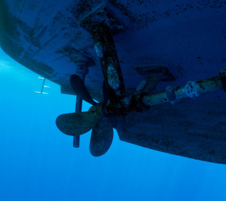 Propellor-Rudder-Underwater